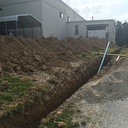 New sewer line dug